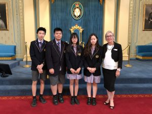 NHS students visit Government House